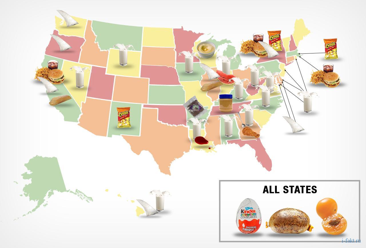 Что нельзя есть в США