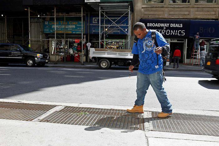 Необычная рыбалка жителя Нью-Йорка