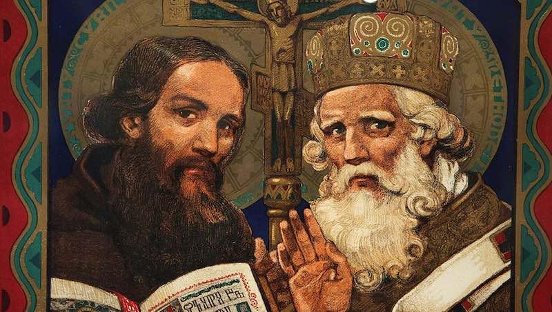 Кирилл и Мефодий - создатели славянской письменности.