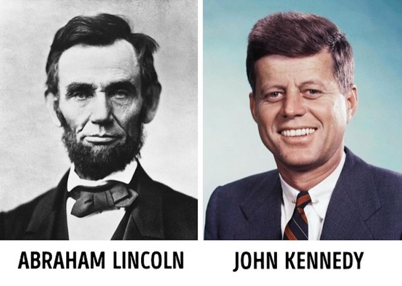 Странные совпадения Линкольн и Кеннеди.