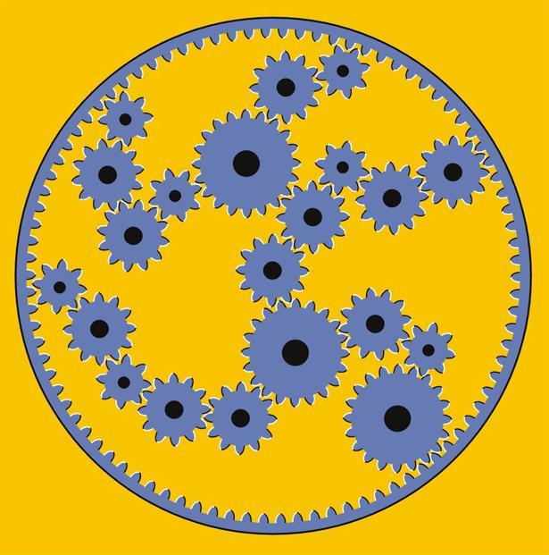 Иллюзия механизма из шестерен