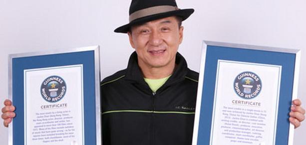 Джеки Чан стал дважды рекордсменом Книги рекордов Гиннеса