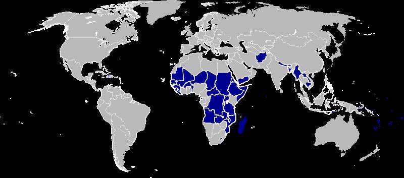 Где находятся страны четвертого мира