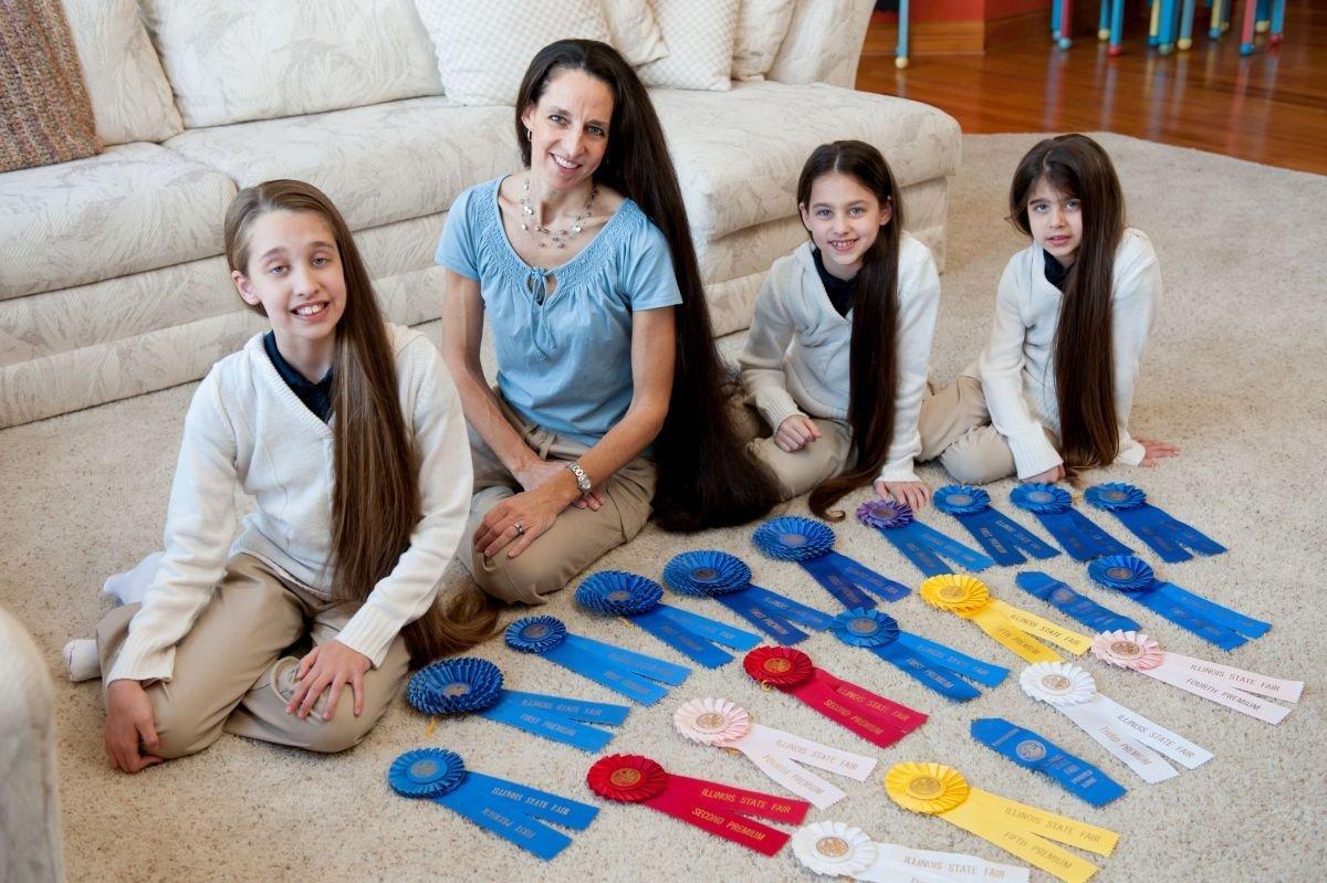 Самая длинноволосая семья в мире 8