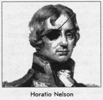 На каком глазу адмирал Нельсон носил повязку 1