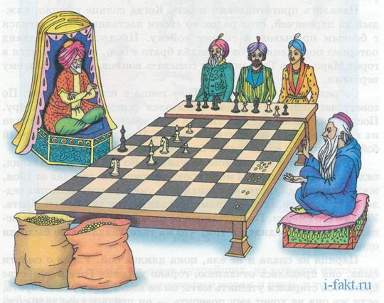 Задача о зёрнах на шахматной доске