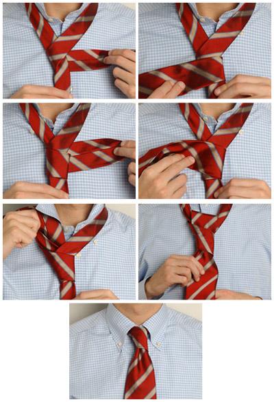 Как завязать галстук 8