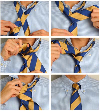 Как завязать галстук 3