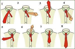 Как завязать галстук 6