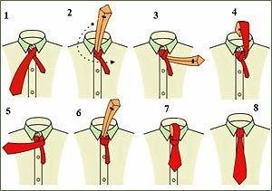 Как завязать галстук 4