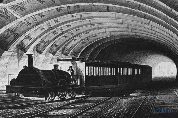 Где появилось первое в мире метро