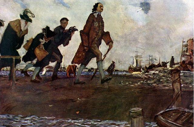 Петр Первый основал русский флот, но боялся воды