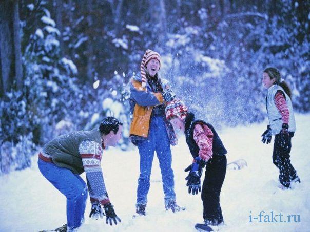 Игра в снежки запрещена в центре европы