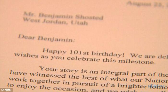 Как Барак Обама поздравил ребенка с 101 днем рождения