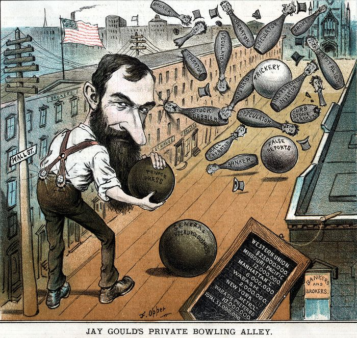 Карикатура на Гулда
