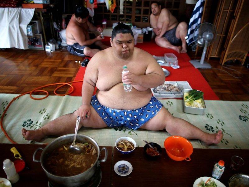 Еда борцов сумо