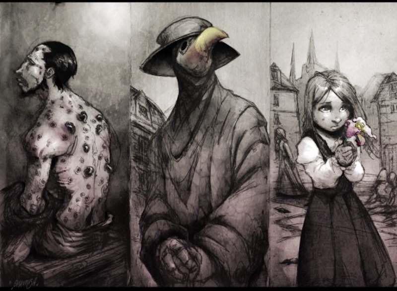 Чумной доктор - темный лекарь в костюме птицы 1