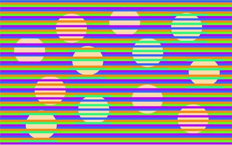 Иллюзия цветных шаров