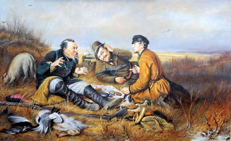 """Интересные факты о картине """"Охотники на привале""""."""