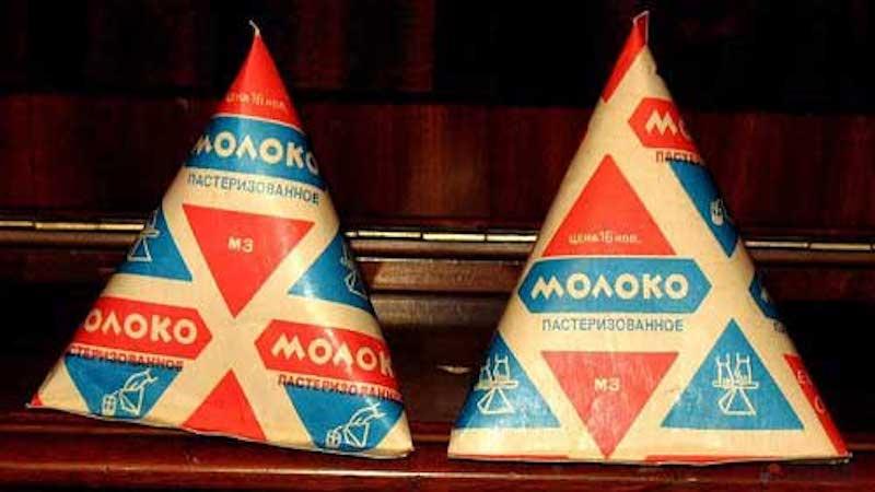 Как появилось о молоко в треугольных пакетах.