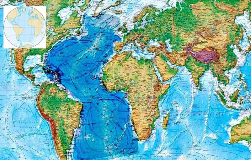Интересные факты об Атлантическом океане.