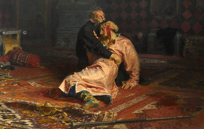 Убивал ли Иван Грозный своего сына.