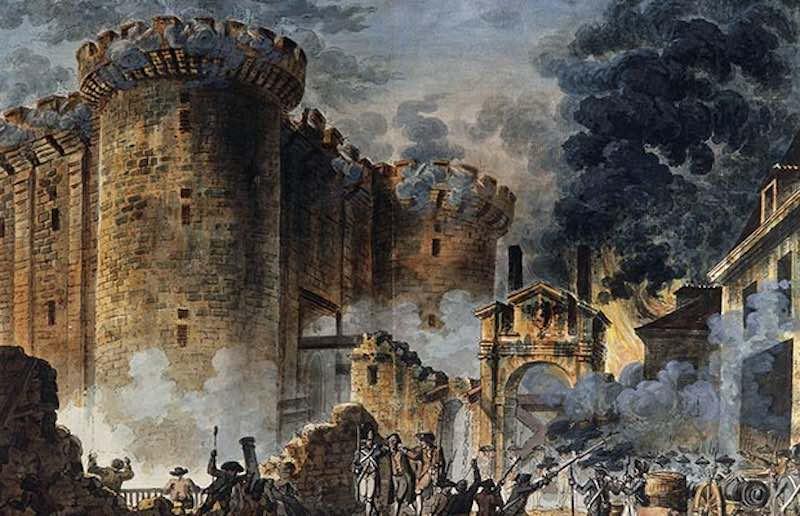 Взятие Бастилии и начало французской буржуазной революции.