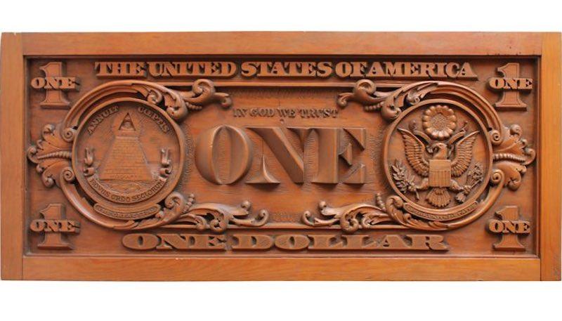 Зачем в США выпускали деревянные доллары.
