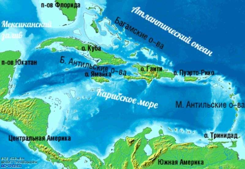 Факты о Карибском море.